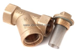 inline strainer cleaning irrigation lines pipes